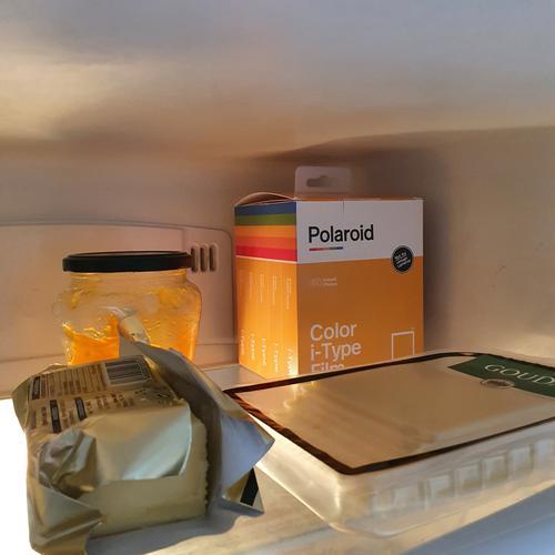Polaroid Films in The fridge